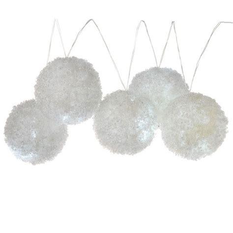 snowball garland lighted snowball garland
