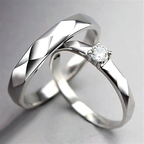 sterling silver name customized promise rings for couples