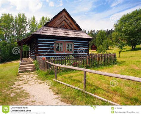 Folk House by Folk House In Skansen Of Stara Lubovna Stock Photo