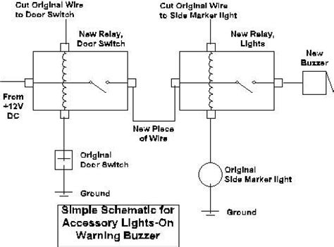 wiring diagram for lights on buzzer image collections
