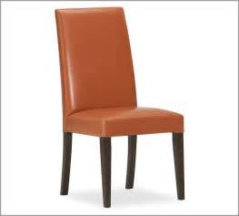 Orange Leather Dining Chairs Grayson Side Chair Orange Modern Dining Chairs By Pottery Barn