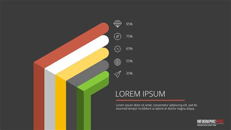 Free Powerpoint Template With Flat 3d Design Banner Flat Design Powerpoint Template