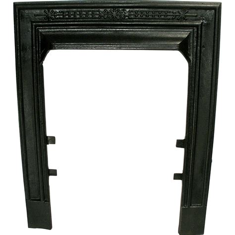 How To Fix A Cast Iron Fireplace To Wall by Antique Cast Iron Ribbed Sparkle Black Fireplace