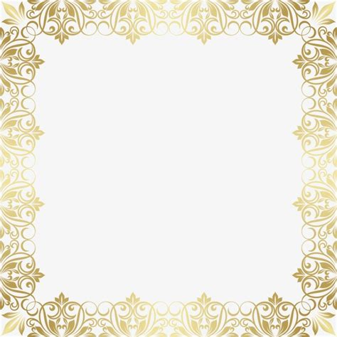 european gold pattern vector gold frame gold pattern european border png and vector