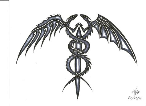 tribal caduceus tattoo caduceus by penryck13 on deviantart