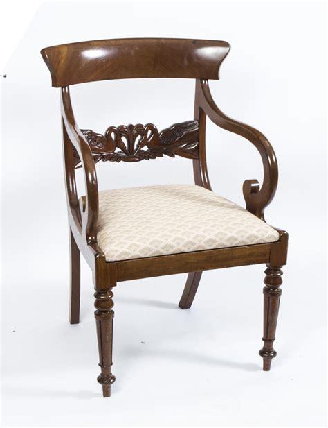 Regency Armchair by Antique Regency Swan Carved Armchair C 1820