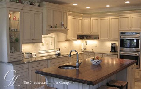 Kitchen Island Countertops Large Walnut Wood Countertop Kitchen Island In New Jersey