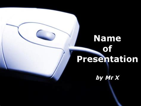 pc mouse themes computer mouse over a black background powerpoint template