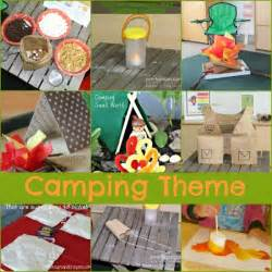 Dramatic play camping theme activities for preschool and kindergarten