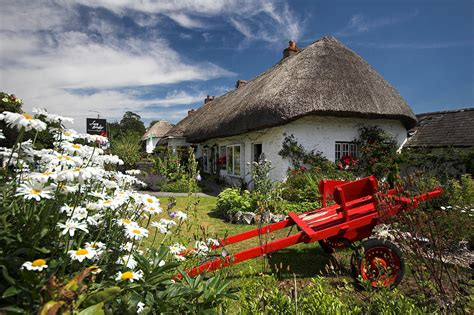 Cottages Ireland Adare Thatch Roof Cottages Ireland Photograph By
