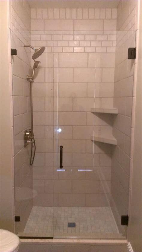 Tile Shower Shelf Ideas by Bathroom Sleek White Tiled Corner Showers With Diagonal
