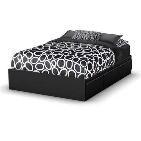 black full bed south shore full storage bed in pure black 3107211
