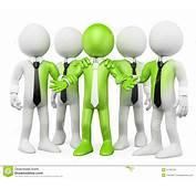 Gente Del Blanco 3D Trabajo En Equipo Verde Fotos De