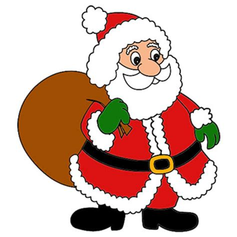 what color is santa claus coloring book pictures to color