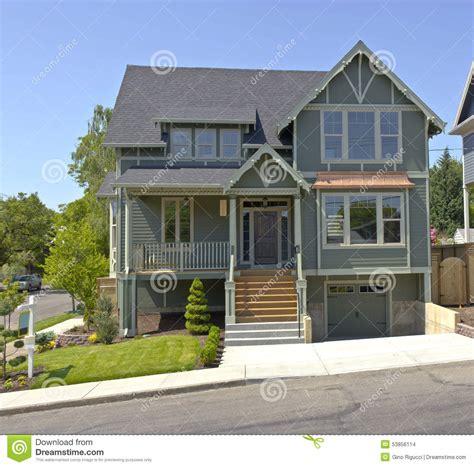 nouvelle maison 224 vendre portland or 233 gon photo stock