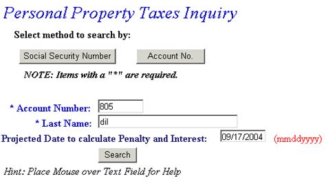 How To Find Personal Property Tax Records Personal Property Inquiry