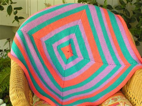 the knitting circle res ipsa knit with circular mitred square blanket