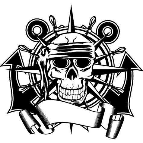 Promo Persib Bobotoh Tengkorak Nevy skull anchor rudder compass sticker decal horror poster name car