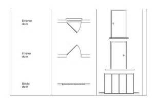 How To Draw A Sliding Door In A Floor Plan by Plan Symbols