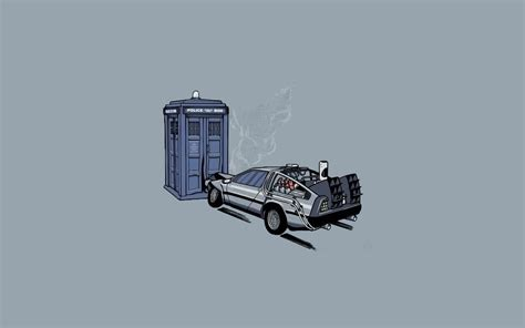Doctors Simple Minimalist 02394e Rbaedd back to the future cars delorean dmc 12 doctor who minimalistic simple background tardis time