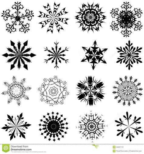 snowflake set stock photography image 34267772