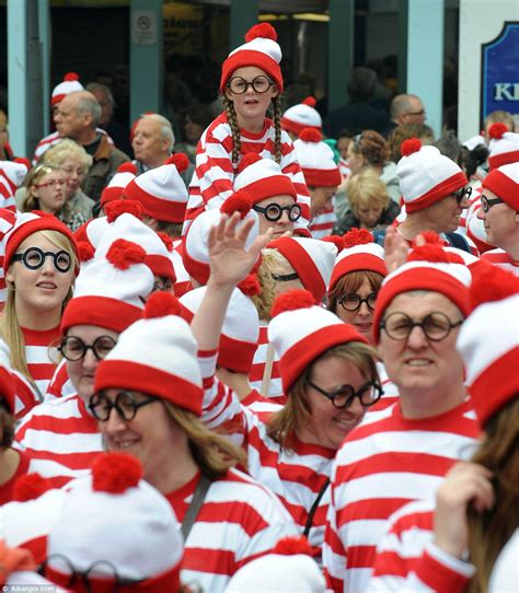 hats with fans on them where isn t wally 930 fans put on bobble hats and glasses