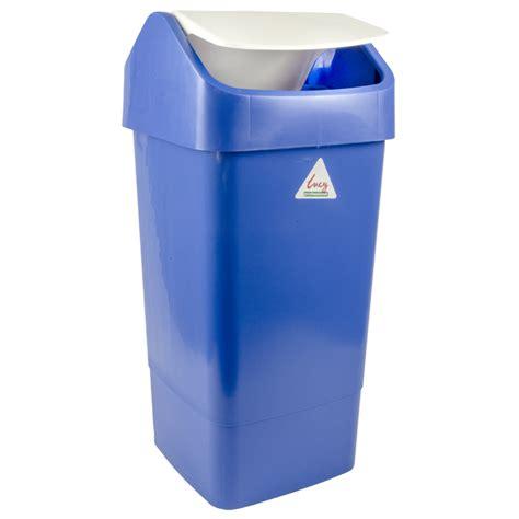 plastic swing bin 50lt plastic swing top bin with lid blue foremost