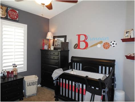 sports themed nursery baby room wall d 233 cor ideas tips for careful parents