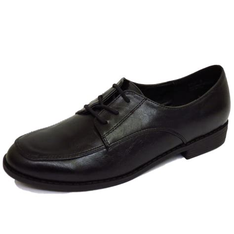 flat black lace up shoes flat black lace up oxford brogue work school