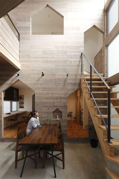 small modern house  kyoto  wood interiors