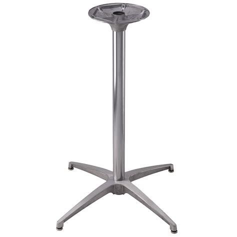 Restaurant Table Base by Ts24 Brushed Aluminum Dining Height Chrome 30