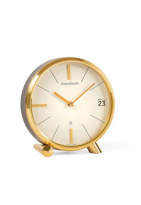 orologio da scrivania jaeger lecoultre orologio da scrivania in ottone dorato