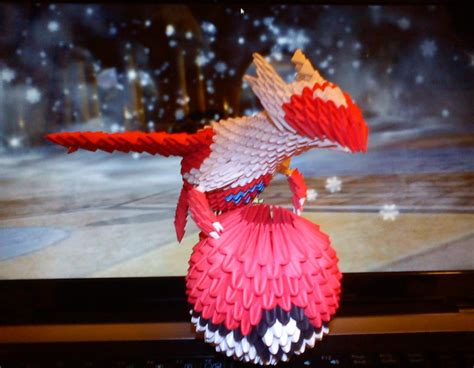 3d Origami Paper Folding - 3d origami latias by spkmw on deviantart