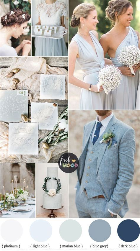 Light Blue Grey Wedding Colors ? vision for an elegant