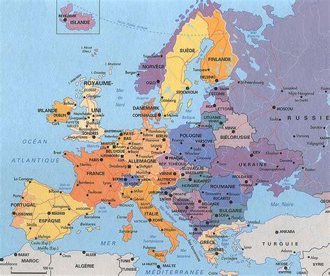 map de l europe carte de l europe cartes reliefs villes pays ue