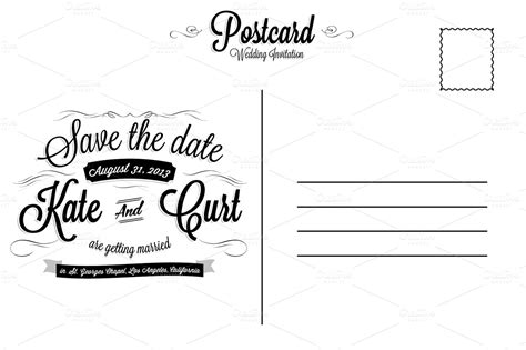 postcard backside template vintage wedding invitation postcard card templates on