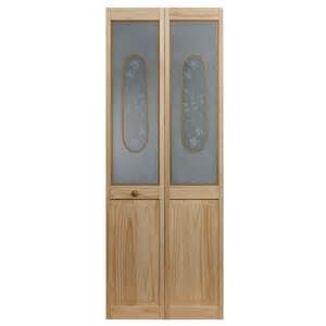 frosted interior doors home depot pinecroft 36 in x 80 in frosted glass pine interior bi fold door 873330 the home depot