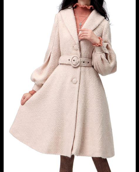light pink wool coat light pink women coat women wool dress coat apring autumn