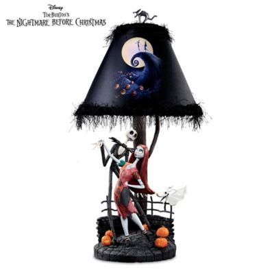 Tim Burtons The Nightmare Before Christmas Moonlight Table Lamp With Jack, Sally And Zero
