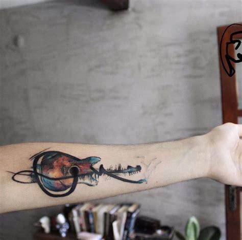 watercolor tattoo guitar 60 utterly beautiful watercolor tattoos we guitar