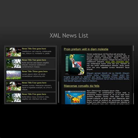 flash template 228 news list