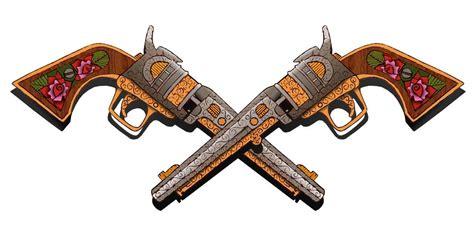 crossed revolvers tattoo revolvers and pistols designs 187 ideas