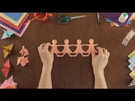 How To Make String Of Paper Dolls - how to make paper dolls paper projects