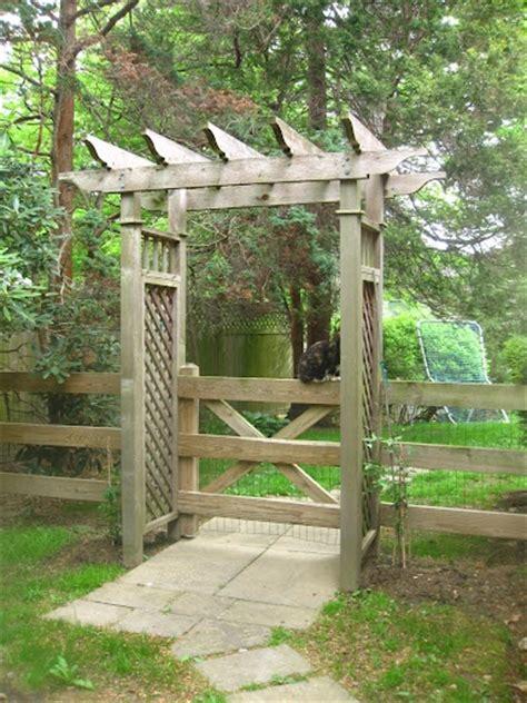Garden Arbor With Gate Gate And Arbor Garden