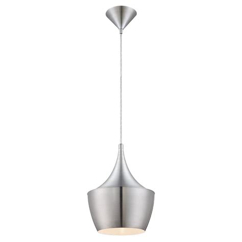 brushed nickel pendant lighting kitchen home decorators collection 1 light brushed aluminum