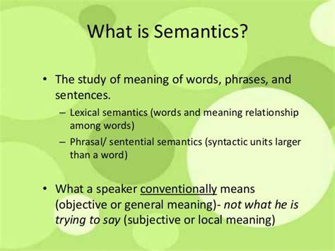 Or Meaning Semantics 1