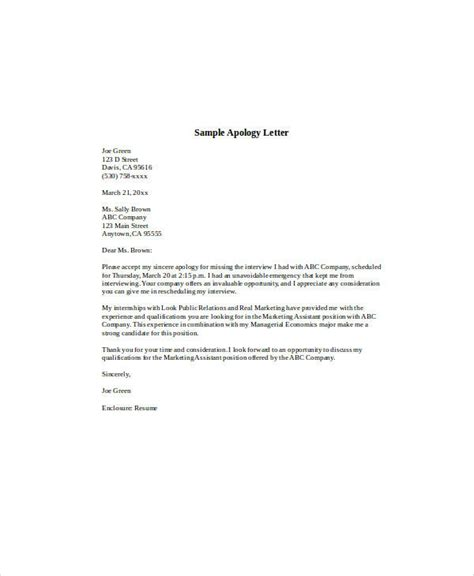 Formal Letter Format Apology Apology Letter Exles