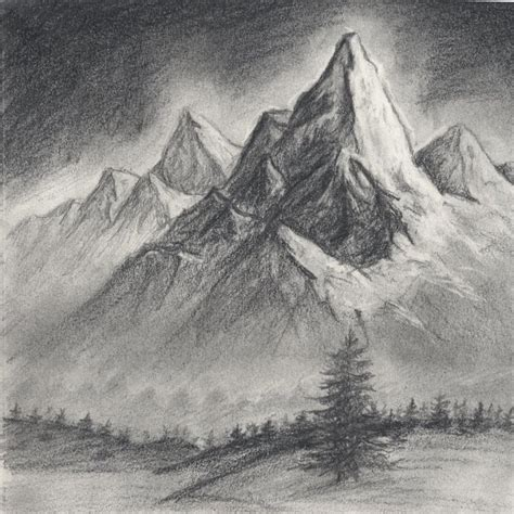 Drawing Mountains by Cool Landscapes To Draw Cool Landscapes To Draw Easy