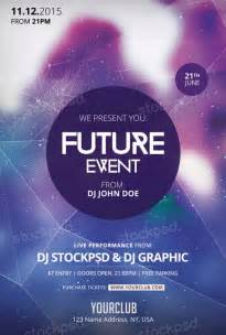 event flyer templates free future event free psd flyer template for photoshop