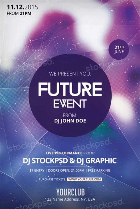 free flyer template psd future event free psd flyer template for photoshop